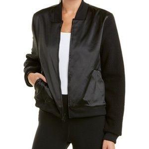 Adidas Black  Satin and Sherpa Jacket, Large